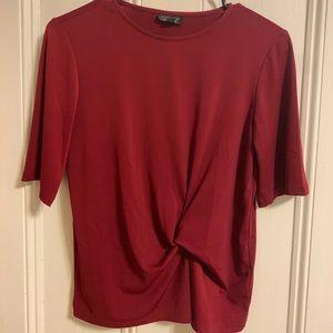 Topshop Red Top w/ Twist Design